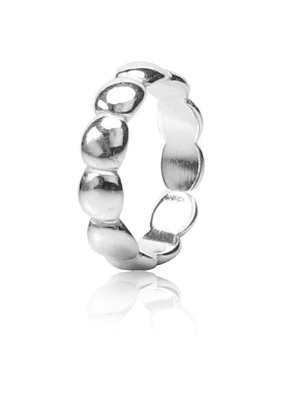 Bumpy Ball Toe Ring - Sterling Silver - LeCalla
