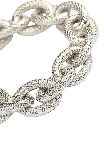 Hollow Statement Link Bracelet - Sterling Silver - LeCalla