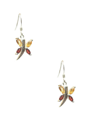 Boastful Butterflies Dangler Earrings - Sterling Silver - LeCalla