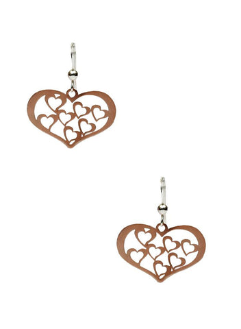 Hearts in Heart Dangler Earrings