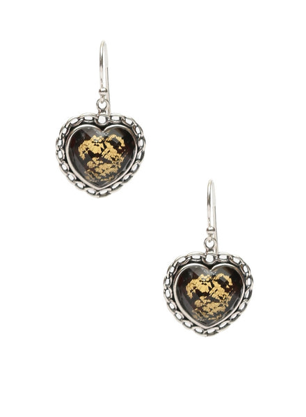 Hearty Allure Dangler Earring - Sterling Silver - LeCalla