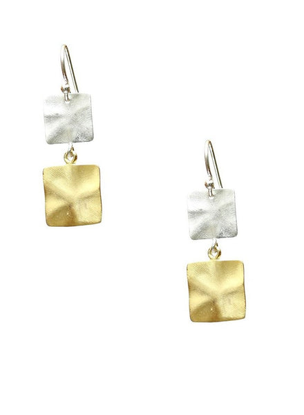 Matt Passion Dangler Earrings - Designer Silver Jewelry