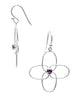 Geometric Pattern Dangler Earrings - Sterling Silver - LeCalla