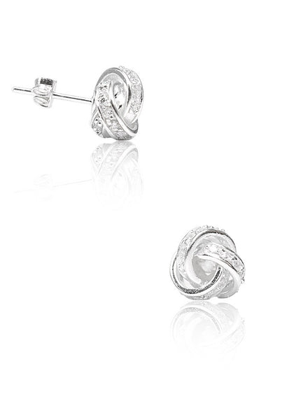Show Some Love Stud Earrings - Sterling Silver - LeCalla