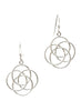 Wired Flower Dangler Earring - Sterling Silver - LeCalla