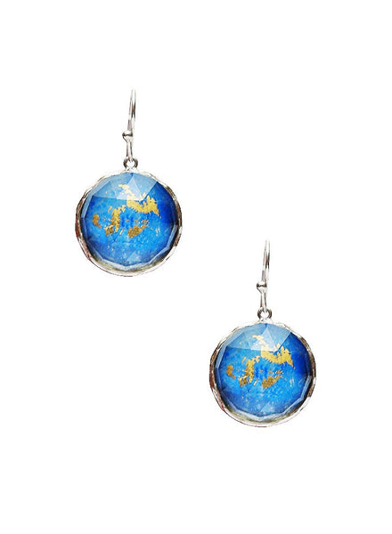 Vintage Blue Moon Dangler Earring - Sterling Silver - LeCalla