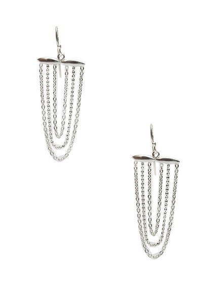 Chain Chandelier Dangler Earring - Sterling Silver - LeCalla