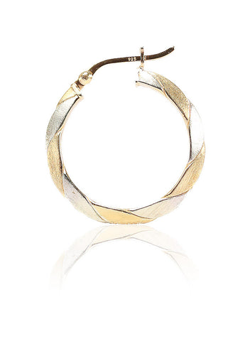 Beyond Obsession Hoop Earrings - Sterling Silver - LeCalla