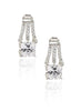 Stylish Solitaire Style Stud Earrings - Sterling Silver - LeCalla