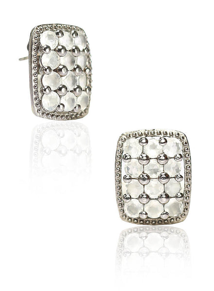 Moonstone Love Stud Earring
