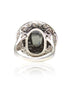 Black Hematite Cocktail Ring - Sterling Silver - LeCalla