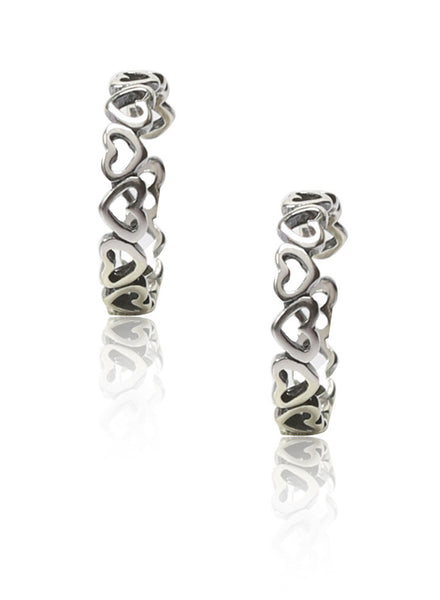 Heart Links Toe Ring - Sterling Silver - LeCalla