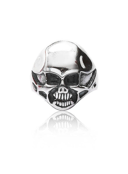 Halloween Skull Ring - Sterling Silver - LeCalla