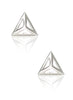 Pyramid Stud Earrings - Sterling Silver - LeCalla