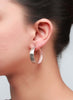 Exquisite Matte Finish Hoop Earrings - Sterling Silver - LeCalla.in