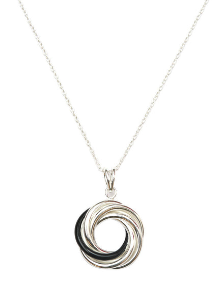 Love Knot Silver Necklace - Sterling Silver - LeCalla