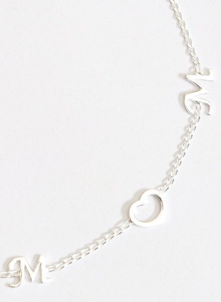 For You Mom Silver Anklet