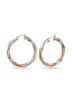Silver, Rose Gold, Hoop earring in 925 silver-lecalla.in