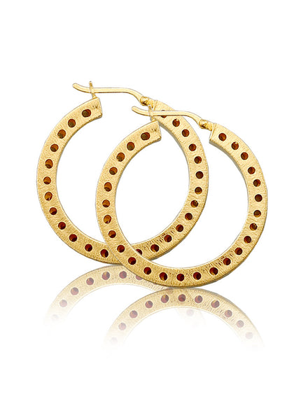 Gold plated Hoop Earring In 925 sterling silver - LeCalla.in