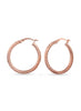 Rose Gold Hoop earring in 925 silver-lecalla.in