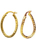 Oval twisted Silver Bali Gold Plated Earrings - Sterling Silver - LeCalla