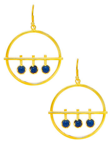 Blue Dew Drop Dangler Earrings - Trendy Latest Jewellery - LeCalla