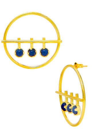 Blue Dew Stunning Stud Earrings - Trendy Fashion Earring - LeCalla Online India