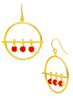 Red Hot Stunning Dangler Drop Earrings - Fashion Trendy - LeCalla Online India