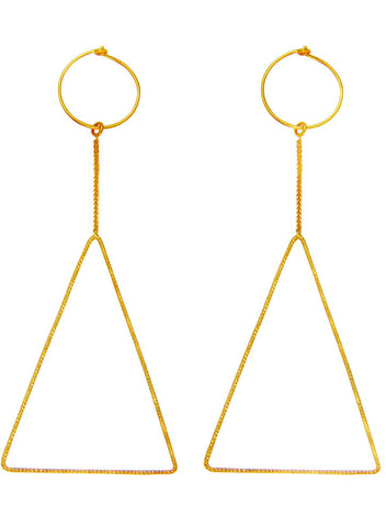 Geometric Vibes Wired Trendy Dangler Earrings - Sterling Silver - Online India LeCalla