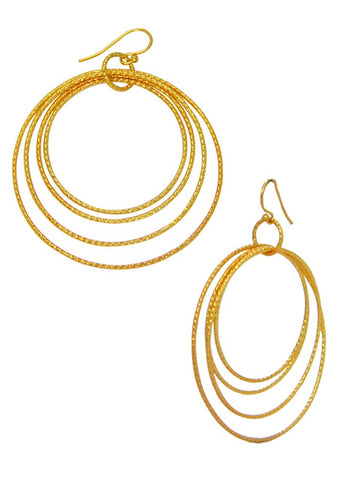 Concentric Wired Trendy Dangler Earrings - Sterling Silver - Buy Online India LeCalla