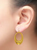 Open Oval Gold Plated Dangler Earrings - Sterling Silver - LeCalla