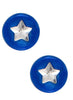 LeCalla's Blue Star Round Kids Stud Earrings - Sterling Silver - Online India