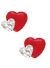 LeCalla's Red Heart in Hearts Kids Stud Earrings - Sterling Silver - Online India