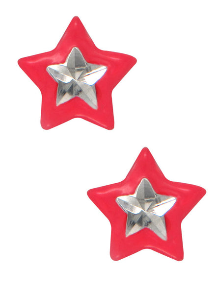 LeCalla's Pink Star Kids Stud Earrings - Sterling Silver - Online India