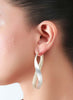 Gorgeousness Redefined Hoops Earrings - Sterling Silver - LeCalla