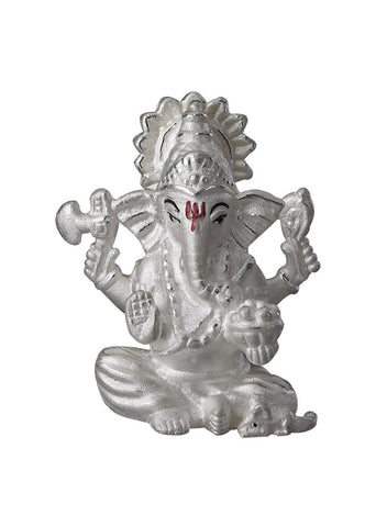 Lecalla Ganesh Ji Religious Idol - Online India - Pure Silver Gift