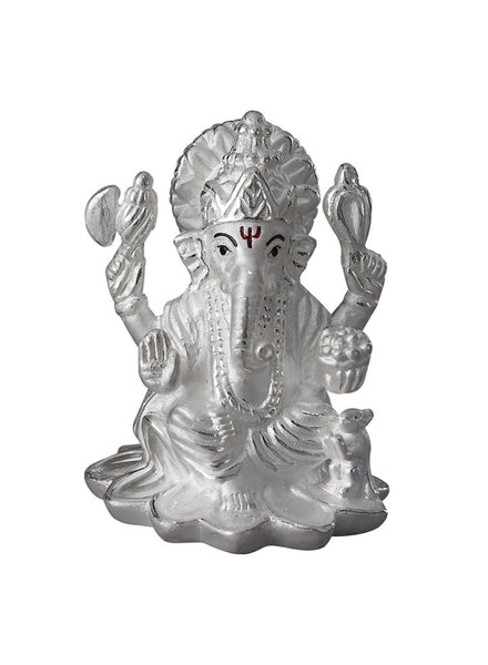 LeCalla's Lord Ganesha Religious Idol for Gifting - Online Diwali Gifting Pure Silver