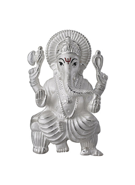 LeCalla's Lord Ganesh Ji Religious Idol for Gifting - Pure Silver - Diwali Gifting