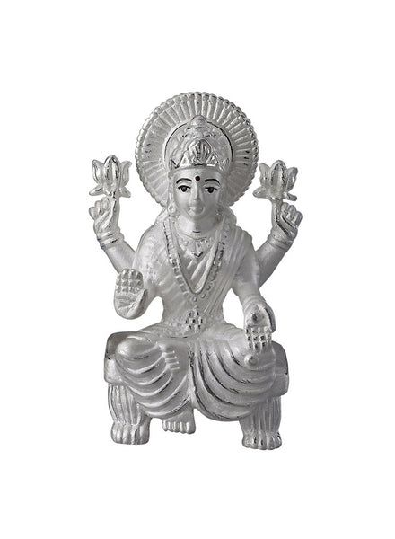 LeCalla's Goddess Lakshmi Light Weight Religious Idol - Pure Silver - Gifting