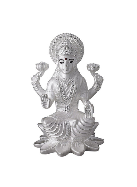 LeCalla's Goddess Lakshmi Tall Religious Idol - Online India Pure Silver
