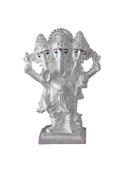 LeCalla's Three Head Lord Ganesha Religious Idol - Online Pure Silver India