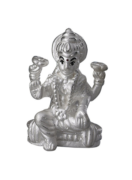 Pure Silver Gifting LeCalla's Goddess Laxmi Beautiful Small Religious Idol