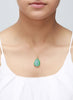 Green Glamour Druzy Pendant - Sterling Silver - LeCalla