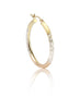 Three Toned Hoop Earrings in Sterling Silver - LeCalla.in