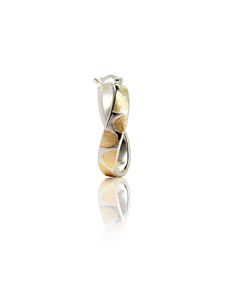 Leopard Print Hoop Earrings - Sterling Silver - LeCalla