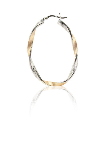 Smart and Sleek Hoop Earrings - Sterling Silver - LeCalla