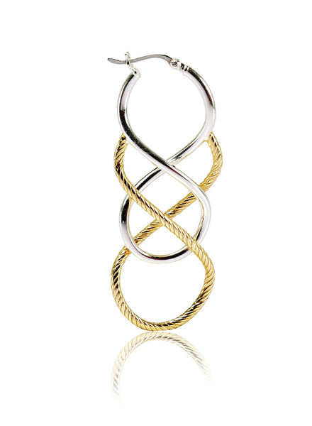 Eight in Eight Hoop Earring - Sterling Silver - LeCalla