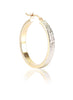 Diamond Cut Perfection Hoop Earrings - Sterling Silver - LeCalla