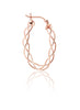 Rose Gold Oval Wire Hoop Earrings - Sterling Silver - LeCalla.in