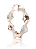 Twisted Shiny Rose Gold Hoop Earrings - Sterling Silver - LeCalla.in